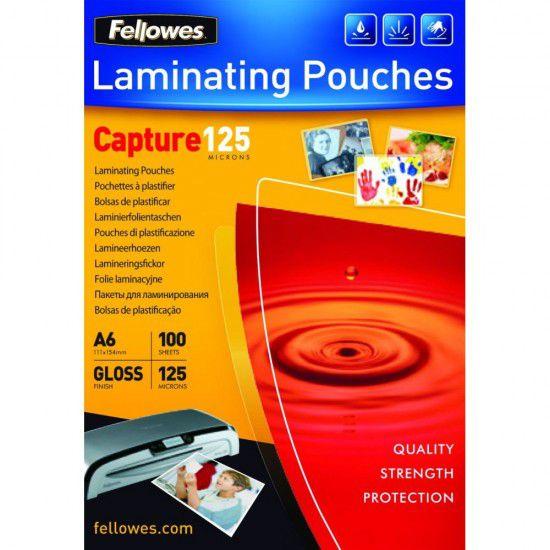 Polaseal Pasta para Plastificação Fellowes CRC 53072 A6 111x154mm 125 micras 100 unidades