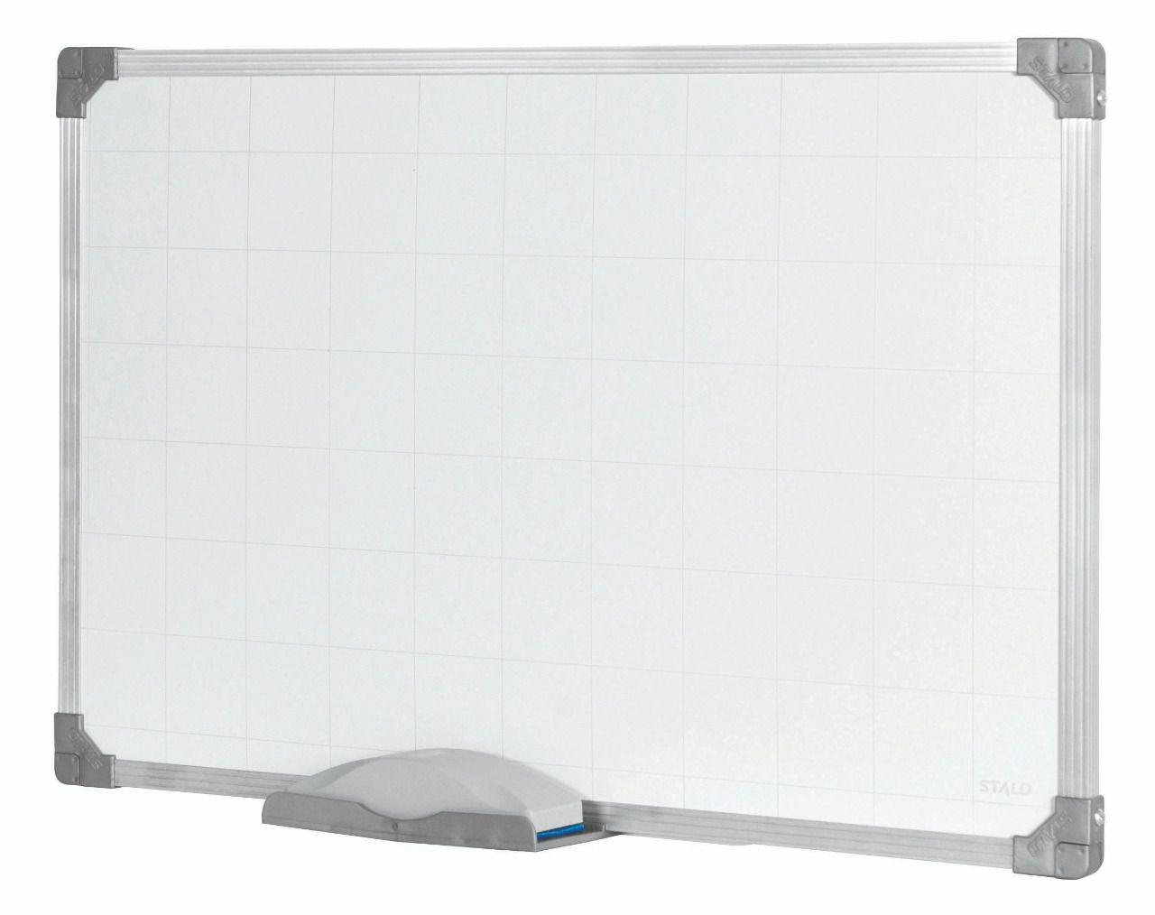 Quadro Branco Quadriculado Stalo 9547 60x100cm com Moldura de Alumínio