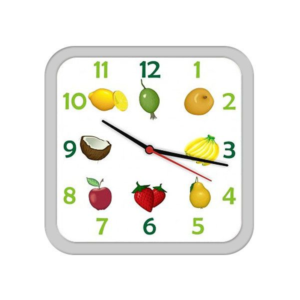 Relógio Bells Quadrado Branco C/Borda Branca 21x21 Fab 1004001
