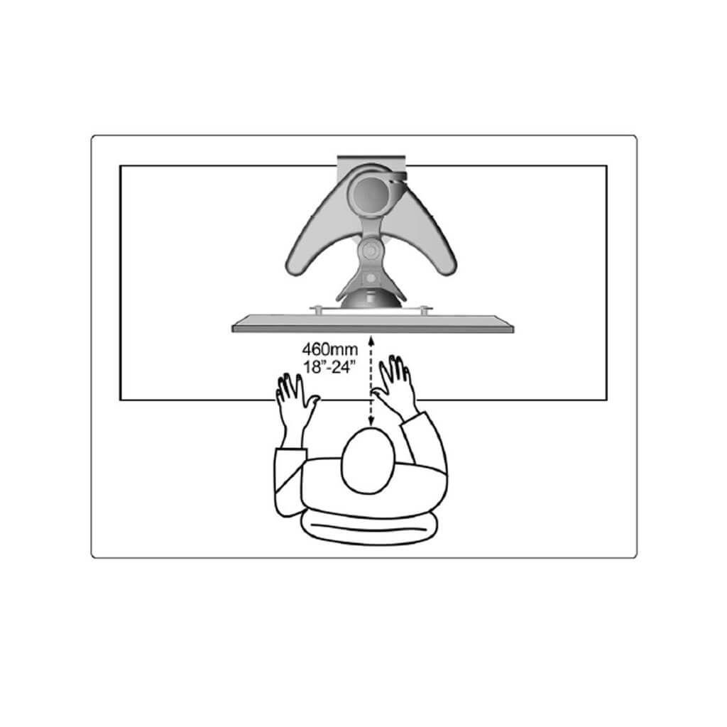 Suporte Brasforma Sbrm752 Articulado para Monitor Led e Lcd de 13 a 27 Polegadas