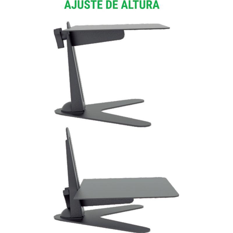 Suporte de mesa para monitor Multivisão MT-Base Ergonômico NR17 ajuste de altura 10 a 24 polegadas
