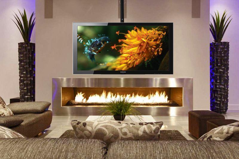 Suporte de TETO Multivisão SKY30 Preto para TV 19 a 52 polegadas, distância teto 48 a 75cm