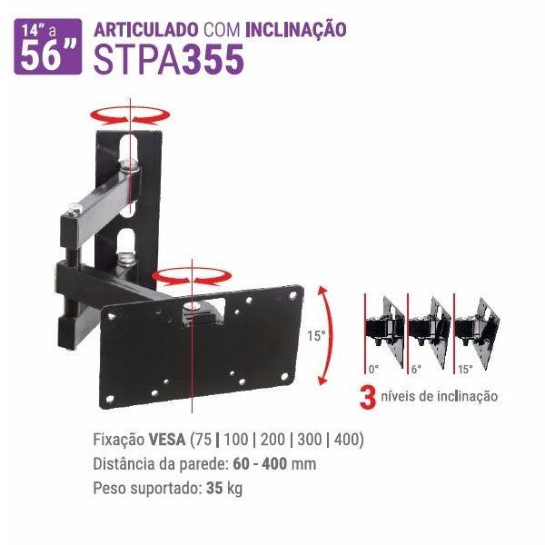 Suporte Multivisão STPA-355 para Tv de 14 a 56 Preto