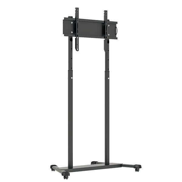 Suporte Multivisão UNIPRO-T2 Pedestal para TV até 70 pol. Com Rodízio Preto