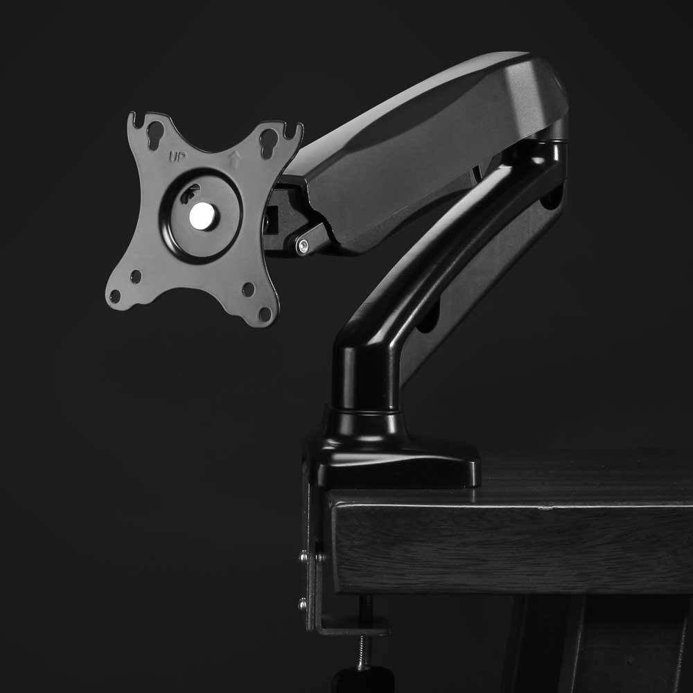 Suporte para monitor Multivisão MT-Uno tri-articulado com pistão de 13 a 27 polegadas NR17 Preto