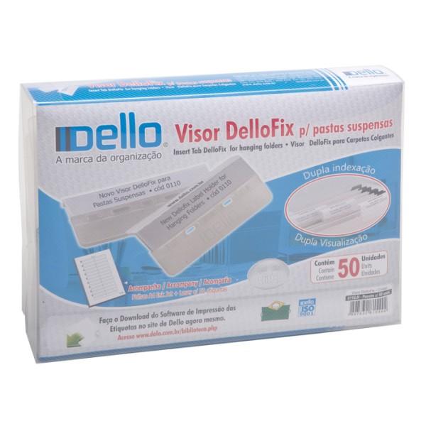 Visor e Etiquetas Dellofix Cristal com 50 Unid 0110