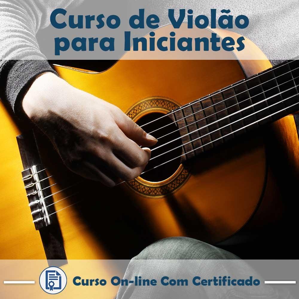 02 DVDs de Dicas de Estudo + Curso  online em videoaula de Violão para Iniciantes com Certificado  - Aprova Cursos
