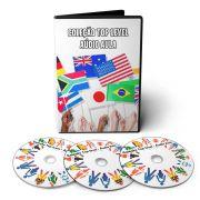 Coleção Top Level - Curso de Italiano Espanhol Alemão em 03 DVDs Áudio aula e Apostilas Digitais