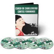 Curso de Cabeleireiro - Aprenda mais de 40 Cortes Femininos em 04 DVDs Videoaula