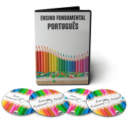 Curso de Português - Ensino Fundamental 1º Grau (5º ao 9º Ano) em 04 DVDs Videoaula