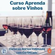 Curso on-line em videoaula Aprenda sobre Vinhos com Certificado