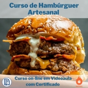 Curso on-line em videoaula de Hambúrguer Artesanal com Certificado