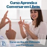 Curso on-line em videoaula Aprenda a Conversar em Libras com Certificado
