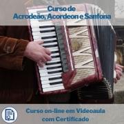 Curso on-line em videoaula de Acordeon / Sanfona com Certificado