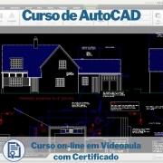 Curso on-line em videoaula de AutoCAD com Certificado