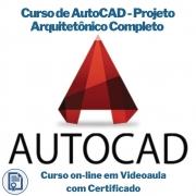 Curso on-line em videoaula de AutoCAD - Projeto Arquitetônico Completo com Certificado