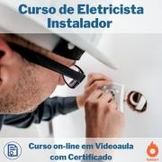 Curso on-line em videoaula de Eletricista Instalador com Certificado