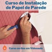 Curso on-line em videoaula de Instalação de Papel de Parede