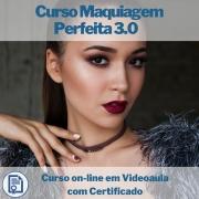 Curso on-line em videoaula de Maquiagem Perfeita 3.0 com Certificado