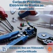 Curso on-line em videoaula de Projetos Elétricos do Básico ao Avançado com Certificado