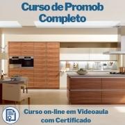 Curso on-line em videoaula de Promob Completo com Certificado