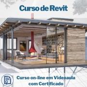 Curso on-line em videoaula de Revit com Certificado