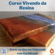 Curso on-line em videoaula Vivendo da Resina com Certificado