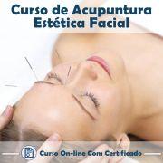 Curso Online Acupuntura Estética Corporal e Facial Avançado com Certificado