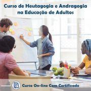 Curso Online de Andragogia e Heutagogia na Educação de Adultos com Certificado