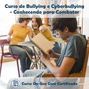 Curso Online de Bullying e Cyberbullying: Conhecendo para Combater com Certificado