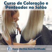 Curso Online de Coloração e Penteados no Salão com Certificado