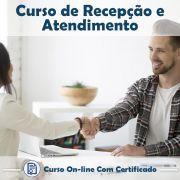 Curso Online de Recepção e Atendimento com Certificado