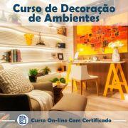 Curso Online de Decoração de Ambientes com Certificado