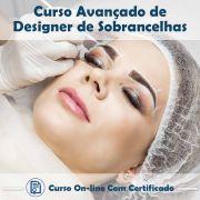 Curso Online de Designer de Sobrancelhas Avançado com Certificado