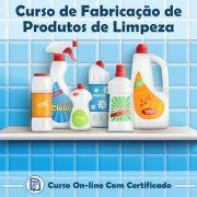 Curso Online de Fabricação de Produtos de Limpeza com Certificado