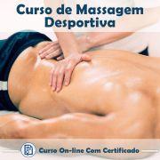 Curso Online de Massagem Desportiva com Certificado