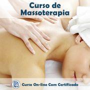 Curso online de Massoterapia com Certificado
