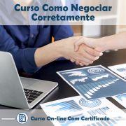 Curso Online de Como Negociar Corretamente com Certificado