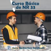 Curso Online de NR 33 Básico – Segurança e Saúde nos Trabalhos em Espaços Confinados com Certificado