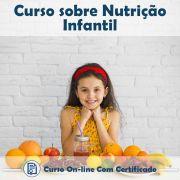 Curso online de Nutrição Infantil + Certificado