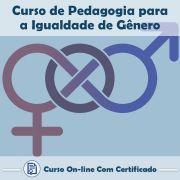 Curso Online de Pedagogia para a Igualdade do Gênero com Certificado