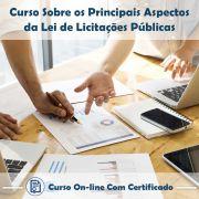 Curso Online de Principais Aspectos da Lei de Licitações Públicas com Certificado