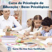 Curso Online de Psicologia da Educação – Bases Psicológicas com Certificado