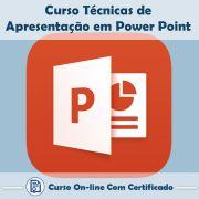 Curso Online de Técnicas de Apresentações em Power Point com Certificado
