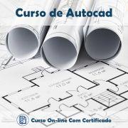 Curso online em videoaula de AutoCAD 2013 com Certificado