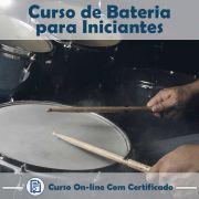 Curso online em videoaula de Bateria para Iniciantes com Certificado