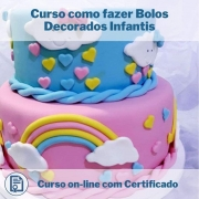 Curso Online em videoaula de como fazer Bolos Decorados Infantis com Certificado
