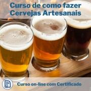 Curso Online em videoaula de como fazer Cervejas Artesanais com Certificado
