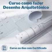Curso Online em videoaula de como fazer Desenho Arquitetônico com Certificado