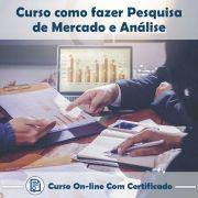 Curso online em videoaula de como fazer Pesquisa de Mercado e Análise com Certificado
